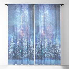 Forest under the Starlight Sheer Curtain