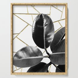 Ficus Elastica Geo #1 #tropical #foliage #decor #art #society6 Serving Tray