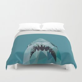 shark graphic   feyerabend illustration Duvet Cover