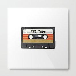Classic Retro Mix Tape Cassette Metal Print