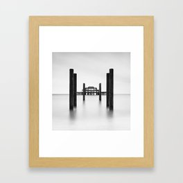Pier Perspective Framed Art Print