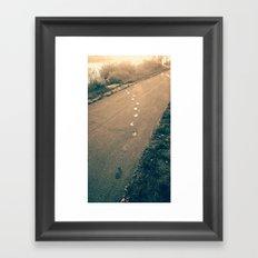 footprints Framed Art Print