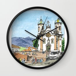 Church of St. Francis of Assisi, Ouro Preto, Brazil. Wall Clock