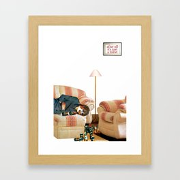 Habits / Alcohol Framed Art Print