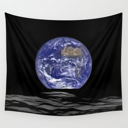 Earth Rising over the Horizon of the Moon Wall Tapestry