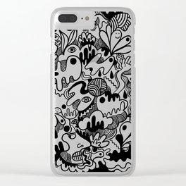 Weirdo doodle Clear iPhone Case