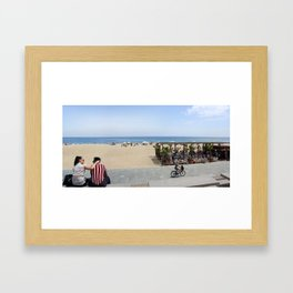Barcelona beach Framed Art Print