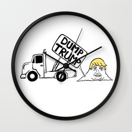 Dump Trump Wall Clock