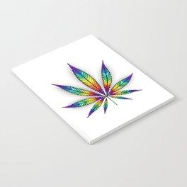 Cannabis Rainbow Leaf Notebook