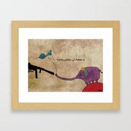 Why do we kill each other? Framed Art Print