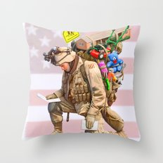 Worries at Home Throw Pillow