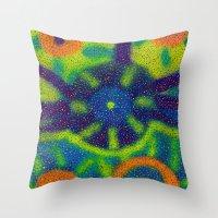 blueprint Throw Pillows featuring Galatic Blueprint by Jason Neves