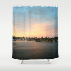Stockholm Sunset Shower Curtain