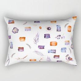 pretty orange and blue nature inspired pattern Rectangular Pillow