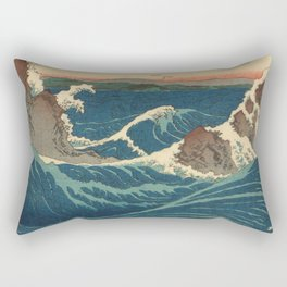 Vintage poster - Japanese Wave Rectangular Pillow