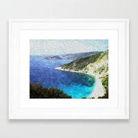greek Framed Art Prints featuring Greek coastline by Brian Raggatt