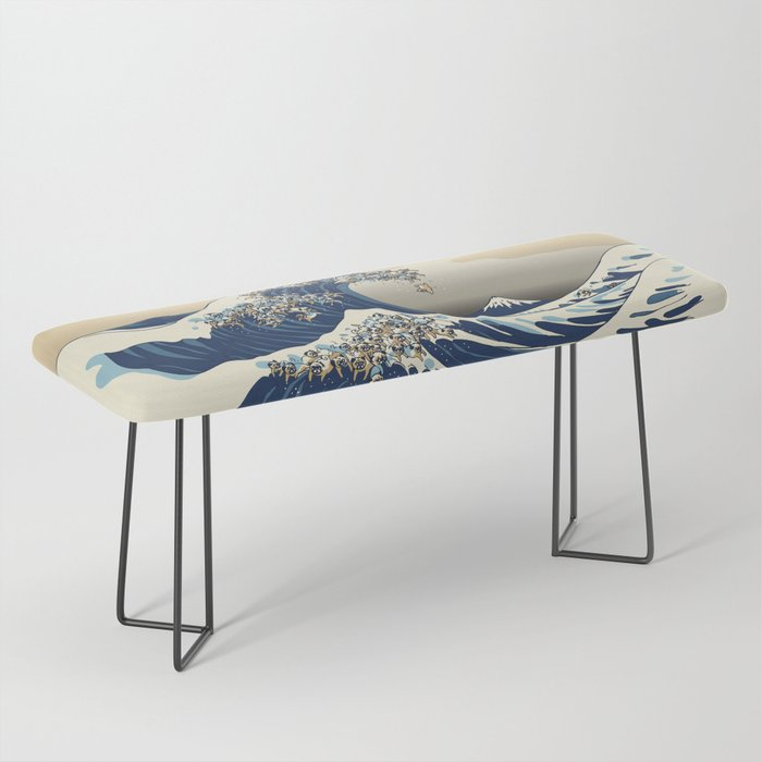 The Great Wave of Pugs Vanilla Sky Bench