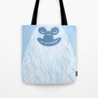 yeti Tote Bags featuring Yeti by valorandvellum
