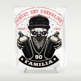 Street art vandalism familia Shower Curtain