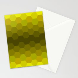 Yellow Honeycomb Fade Stationery Cards