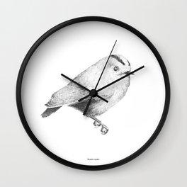 Goldcrest (Regulus regulus) - grey Wall Clock