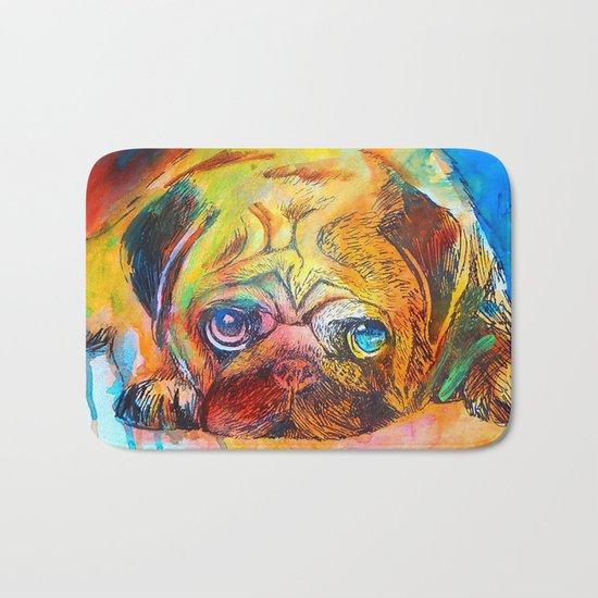 Pop Art Pug Bath Mat