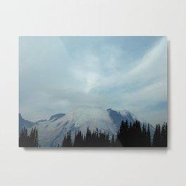Snowy Mountain view at Mt. Rainier nat. park Metal Print