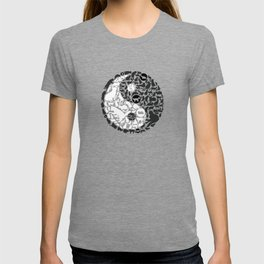 Yin-Yang Cats - Gold T-shirt