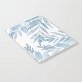 Muted Blue Palm Leaves Notebook
