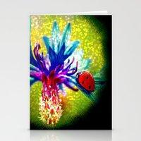 ladybug Stationery Cards featuring ladybug by haroulita