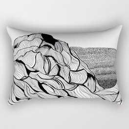 Mountain Detail Rectangular Pillow