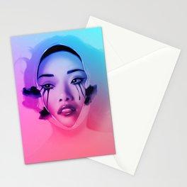 Pretty When You Cry (Milk Bath, Beautiful, Sexy, Asian Art) Stationery Cards