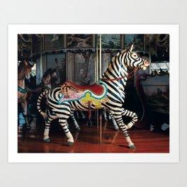 Outside Row Zebra Art Print