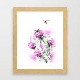 Clover Flower Framed Art Print