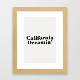 California Dreaming - Dark Framed Art Print