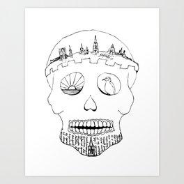 Sugar Skull - Oxford Crown Art Print