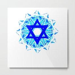Jewish Star Metal Print