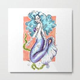 Pastel Mermaid Metal Print