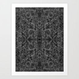 psychic geography - four corners Art Print