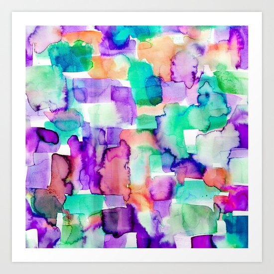 Wild Eye Purple Art Print