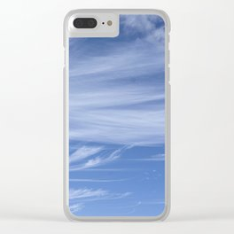 Little wispy clouds Clear iPhone Case