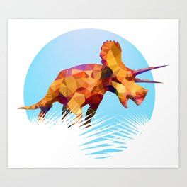 Party Triceratops Art Print