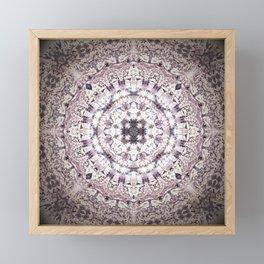 MAUVE MANDALA Framed Mini Art Print