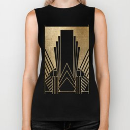 Art deco design Biker Tank