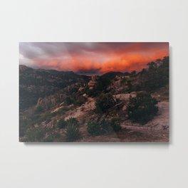 Mt. Lemmon Sunset Metal Print
