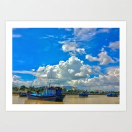 Cai River Vietnam Art Print