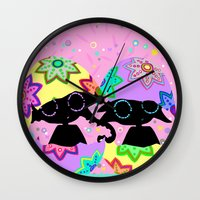 easter Wall Clocks featuring Easter by BLOOP