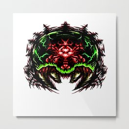 Super Metroid: Angry Baby Graphic Metal Print