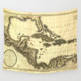 Map of the West Indies and Mexican Gulf (1806) Wall Tapestry
