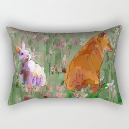 The hare and the fox Rectangular Pillow